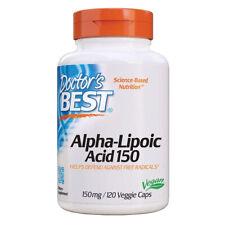 Doctor's Best - Alpha Lipoic Acid, 150mg - 120 VCaps (acido alfa-lipoico)
