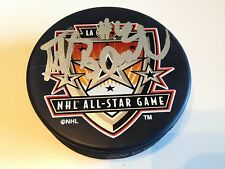 PETER BONDRA 2002 Los Angeles All Star Game Autographed NHL Hockey Puck w/ Case