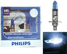 Philips Diamond Vision White 5000K H1 55W Two Bulbs Head Light Low Beam Replace