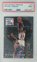 1993-94 Skybox Premium NBA on NBC Michael Jordan #14, HOF, Graded PSA 9 Mint