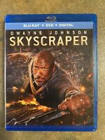 LIKE NEW—Skyscraper (Blu-ray + DVD + Digital) Dwayne Johnson FREE SHIPPING