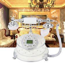 Antique Button Dial Telephone Retro Vintage Home Office Phone Decor Landline