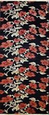 Rugstc 2.5x8 Senneh Chobi  Black Runner Rug,Natural dye,Hand-Knotted,Wool