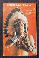 1970 INDIAN TALK by Iron Eyes Cody G/VG Naturegraph Paperback