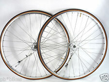 Dura Ace Wheelset Early high Flange Hubs Mavic clincher Rims Vintage Bike 700c