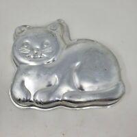 VTG 1989 Wilton WHISKERS HAPPY CAT cake pan KITTY KITTEN ANIMAL metal mold tin