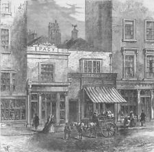 HOLBORN. Old Houses. London c1880 antique vintage print picture