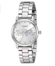 Women COACH Grand Stainless Watch 14502975
