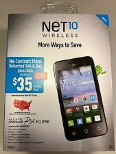 Net10 Alcatel OneTouch Pixi Eclipse Prepaid Smartphone, Brand New! Free Shipping