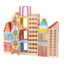 150PC WOODEN BUILDING BLOCKS KIDS CONSTRUCTION PLAY TOY WOOD BRICKS SET GIFT