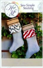 Kenzie Mac & Co Sewing Pattern: Sew Simple Stocking w/ Ruffle -Christmas/Holiday