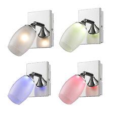 Wandlampe Farbwechsel Spotleuchte RGB LED Glas 1-flg Strahler RGB Deckenstrahler