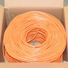 CAT6 1000FT UTP Cable Solid 23AWG 550MHz Network Ethernet Bulk Wire LAN Orange