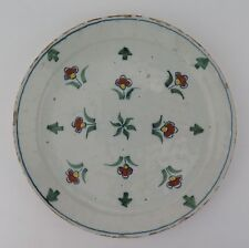 London polychrome floral sprigs delftware plate c1710-20