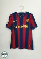 BARCELONA FC 2009/10 Nike Home Football Shirt S Vintage Soccer Jersey Camiseta