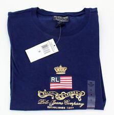 Ladies Ralph Lauren Polo Jeans Dark Blue T-Shirt Junior 100% Cotton Size S