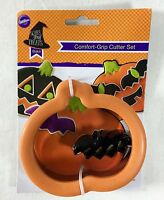 Wilton Halloween Comfort Grip Cookie Cutter 2 Piece Pumpkin With Mini Bat New