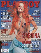 SABRINA SABROK SIGNED AUTO'D PSA/DNA COA PLAYBOY MEXICO MAGAZINE JULY 2003 RARE