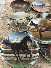 Lot Of 16 Famous Thoroughbreds Horse Collector Plates Danbury Mint