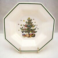 Nikko CHRISTMASTIME Rimmed Soup Bowl CRAZED, READ