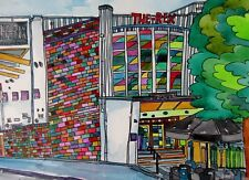 LARGE ORIGINAL WATERCOLOUR AND INK PAINTING OF THE REX CINEMA BERKHAMSTEAD