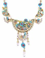BETSEY JOHNSON 'Weave and Sew' Multi Woven Flower Drama Necklace $125