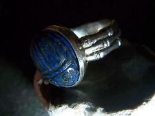 WMM Kleeblatt Werner Müller Mannheim Silber Ring Labislazuli Gemme Bambusmuster