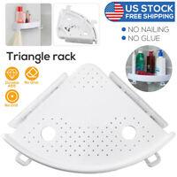 Corner Bathroom Triangular Shower Shelf  Bath Storage Holder Organized Rack USA