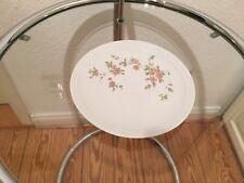 Kahla - Porzellan Teller, weiß mit Blumen, 19,5cm Durchmesser