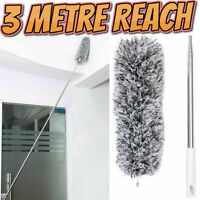 3m Telescopic Microfibre Duster Extra Long Reach Cleaning Bendable Dusting Kit