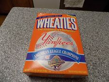 1996 NEW YORK YANKEES AMERICAN LEAGUE CHAMPIONS WHEATIES BOX  FULL/UNOPENED