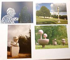 4 x large ARTISTS POSTCARDS Isamu Noguchi, Sarah Staton, Igor Mitoraj etc