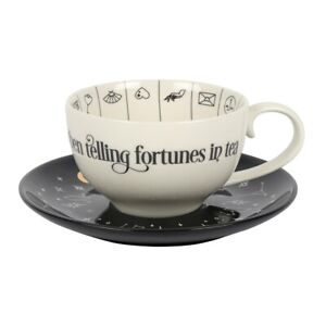 Fortune Telling Ceramic Teacup / Tea Cup and Saucer - BNIB