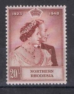 Northern Rhodesia 1948 Silver Wedding High Value SG 49 MNH