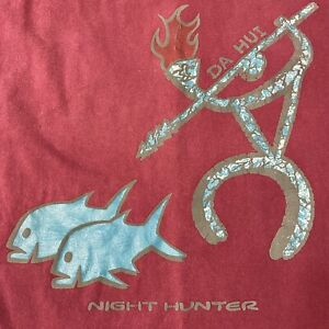 VTG Friends of Da Hui North Shore Oahu Night Hunter Shirt Mens Medium Hawai'i