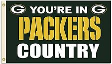 Green Bay Packers Huge 3'x5' Nfl Licensed Country Flag / Banner - Free Shipping
