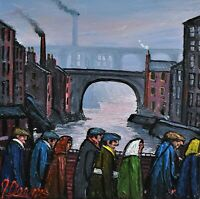 James Downie Original Oil Painting - Stockport Bridge (Northern Art)