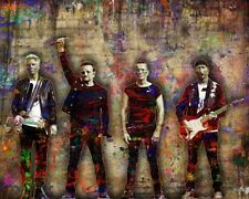U2 Poster, U2 Pop Art 16x20in Bono Edge Adam Larry of U2 Colorful Free Shipping