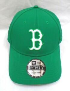Boston Red Sox Men's New Era 9FORTY Adjustable Cap Hat Green