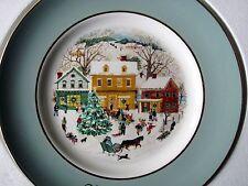 Avon Christmas Plate - Country Christmas (1980) - Enoch Wedgwood - Nm