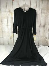 Vintage NWT New Strait Lane Black Dress with Belt Wrap Women's Size 10