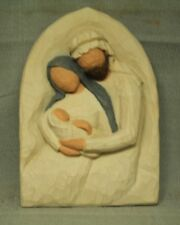 Willow Tree The Holy Family Baby Jesus Mary Joseph A Child is Born wall plaque