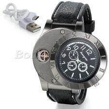 Men's 2 in 1 Military Decoration Quartz Wrist Watches USB Cigarette Lighter