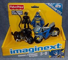IMAGINEXT DC SUPER FRIENDS GOTHAM CITY BATMAN,CATWOMAN & CYCLES SET TOY R US