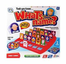 Guess Who What's Their Name Board Game Grafix