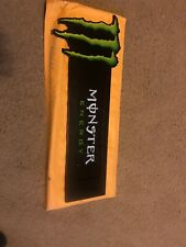 MONSTER ENERGY DRINK METAL SIGN HOLDER WITH SUCTION CUPS GREAT COLLECTABLE