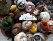 Selection Box of Merino Wool / Silk roving/ tops / needle felting /spinning 100g