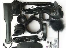 12 pcs-Kit-Bed-Bondage-Set-Collar-Whip-Hand-Ankle-Cuffs-Kinky-Restraint-SM Tool