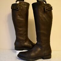 """CLARKS """"MOODY JAZZ"""" BROWN LEATHER EQUESTRIAN/COUNTRY STYLE KNEE HIGH BOOTS UK 6D"""