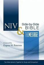 Niv And The Message Side-By-Side Bible: Two Bible Versions Together For Study...